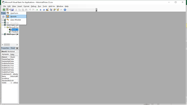 VBA Console Window